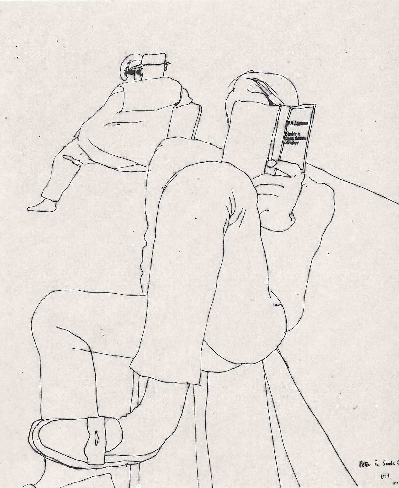 David Hockney Ink Drawings David Hockney Was Born in 1937